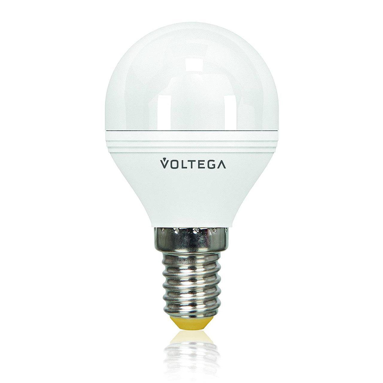 Лампа светодиодная диммируемая E14 6W 2800К матовая VG2-G2E14warm6W-D 5493 voltega лампа светодиодная voltega таблетка матовая gx53 7 2w 2800к vg2 t2gx53warm7w 5739