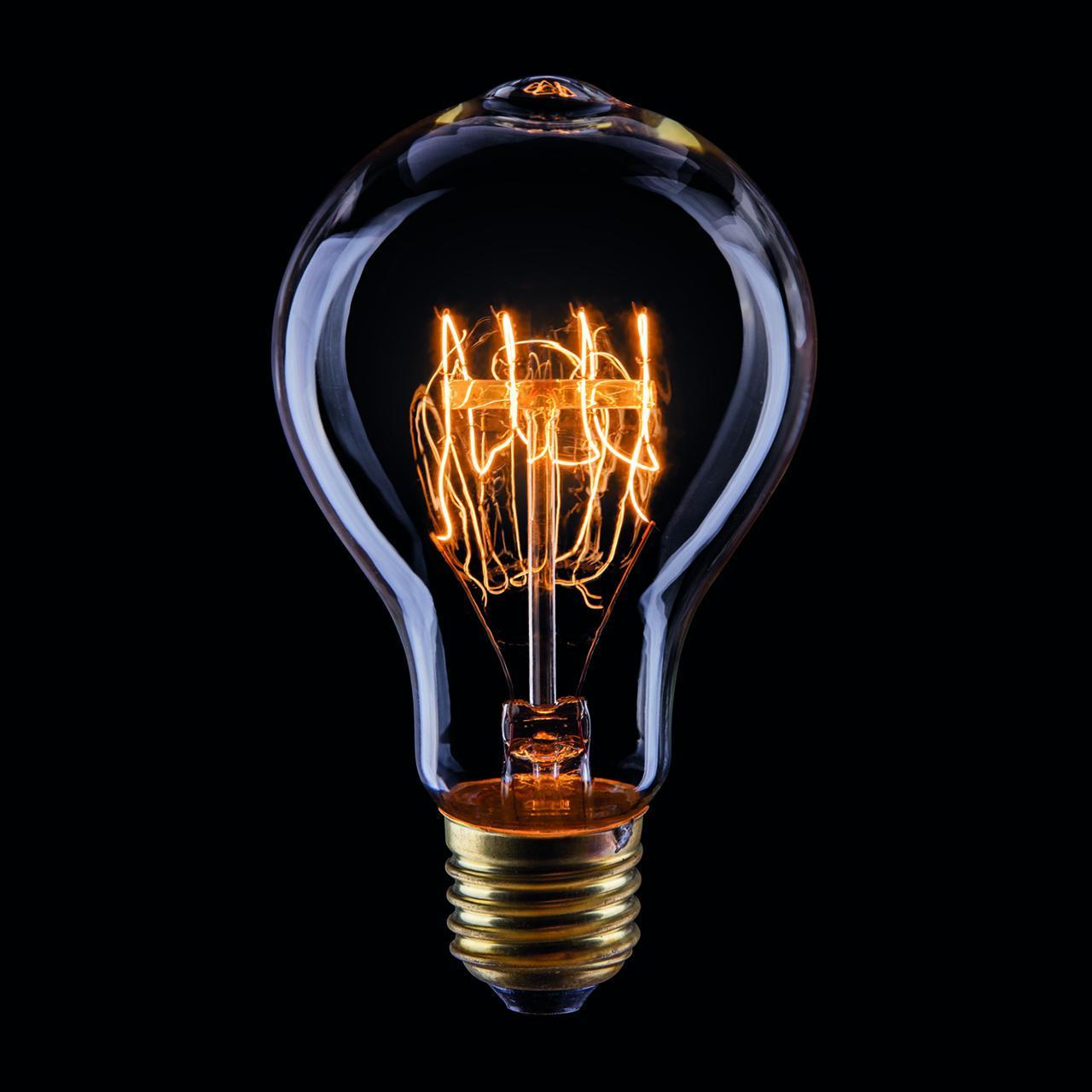 Лампа накаливания E27 40W прозрачная VG6-A75A3-40W 5930 voltega лампа накаливания voltega loft груша прозрачная e27 40w br30 2200k vg6 br30a5 40w 6496