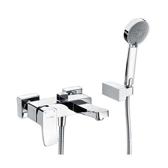 Смеситель WasserKRAFT Aller 1061 хром для ванны смеcитель для умывальника argo fenix 2504l с коротким изливом однорычажный хром черный