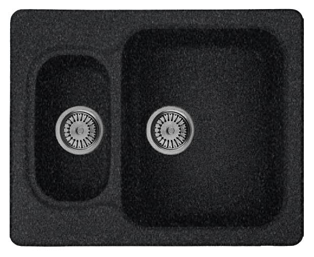 Кухонная мойка Whinstone Гарда 1 1/2B черный металлик кухонная мойка teka princess 1 1 2b 1 2d