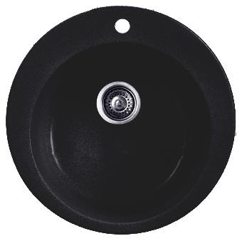 Кухонная мойка Whinstone Арго 1B черный металлик кухонная мойка teka 580 x 500 1b 1 2d matt