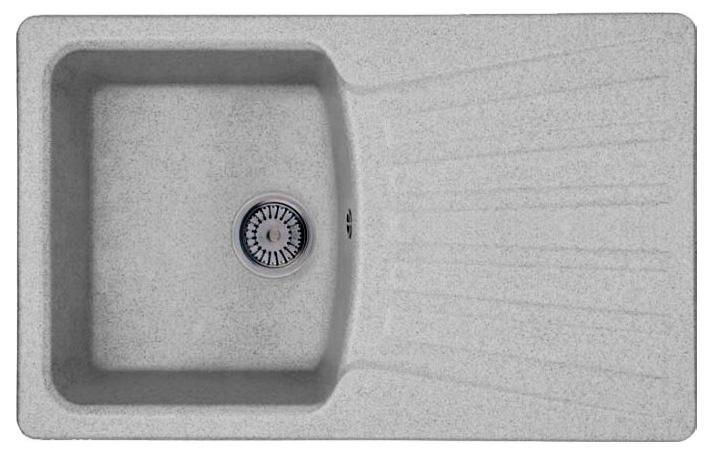 Кухонная мойка Whinstone Веста 1B 1D серый кухонная мойка teka 580 x 500 1b 1 2d matt