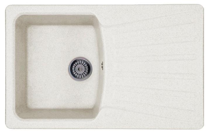 Кухонная мойка Whinstone Веста 1B 1D белый кухонная мойка teka 580 x 500 1b 1 2d matt