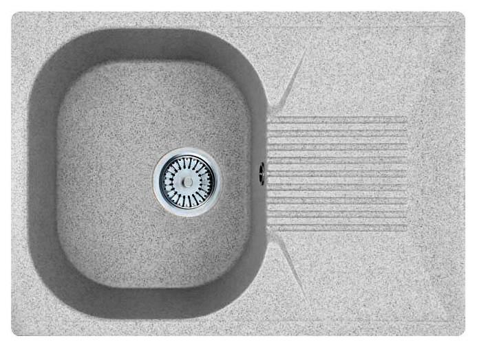 Кухонная мойка Whinstone Рона 1B 1D серый кухонная мойка teka 580 x 500 1b 1 2d matt