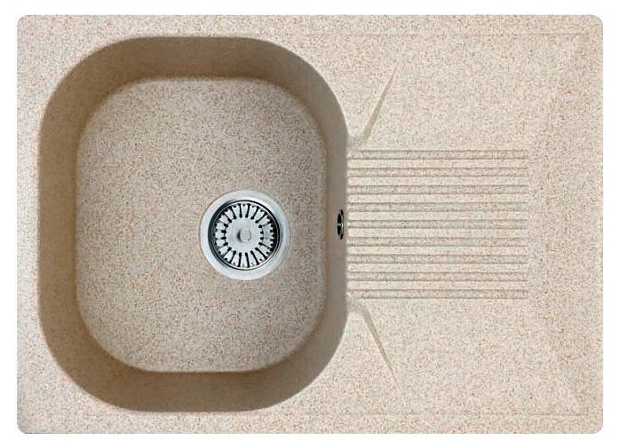 Кухонная мойка Whinstone Рона 1B 1D бежевый кухонная мойка teka 580 x 500 1b 1 2d matt