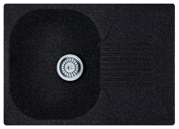Кухонная мойка Whinstone Рона 1B 1D черный металлик кухонная мойка teka classic 1b 1 2d microtex