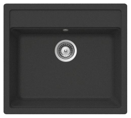 Кухонная мойка Whinstone Немос 1B черный металлик кухонная мойка teka 580 x 500 1b 1 2d matt